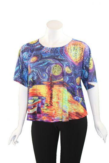 Et'Lois Plus Size Multi Printed Shirt Top C2007-2020 189