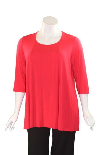 Q' Neel Plus Size Red Pullover Tunic 84992-2428-461