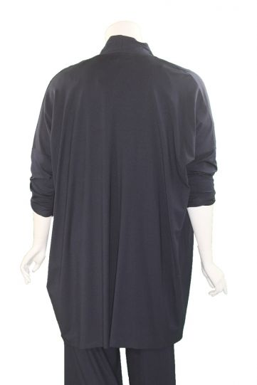 Q' Neel Plus Size Navy Open Front Jacket 87598-2428-691