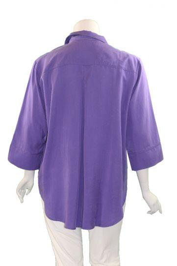 Way Plus Size Purple Button Front Shirt 2400-110