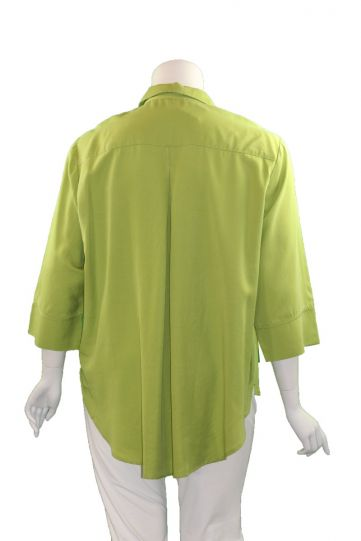Way Plus Size Lime Button Front Shirt 2400-40