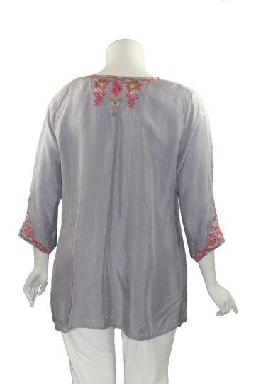 Biya Plus Size Lilac Gray Briony Cupra Blouse B18220
