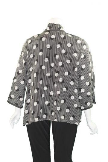 Moonlight Black/White Polka Dot Open Jacket 2992