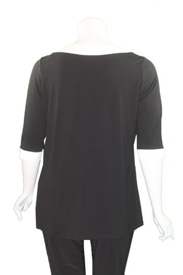 Doris Streich Plus Size Black/White Stripe Tunic 441-270-91