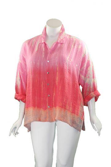 Gerties Plus Size Pink Hand Dye Big Shirt 11202066