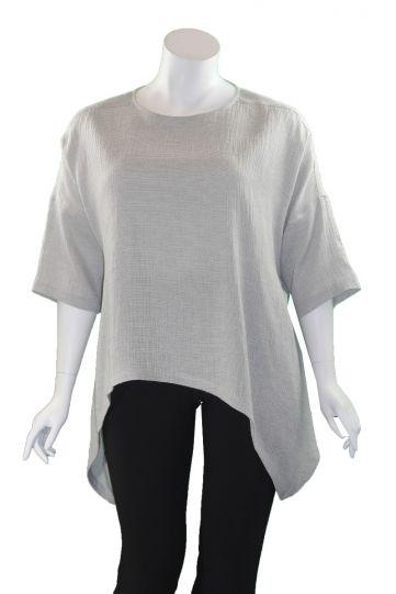 Moyuru Grey Pullover Uneven Hem Tunic 201502