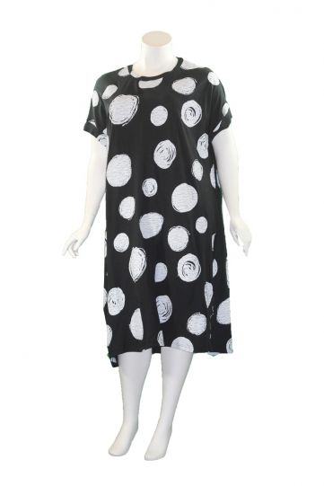 Moyuru Black/White Dot Pullover Dress 201009