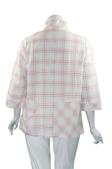Terra Plus Size Red Plaid Button Shirt P4289