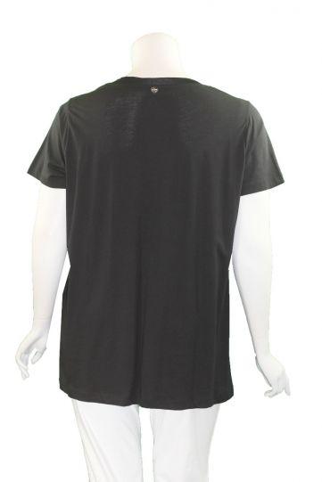 Mat Fashion Black Paris V-Neckline Top 7301.1139