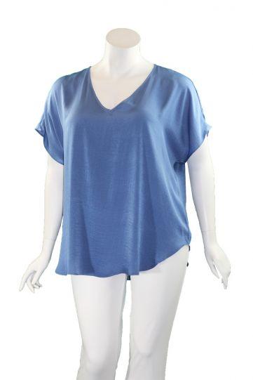 Mat Fashion Indigo Silky Pullover Blouse 7301.1143