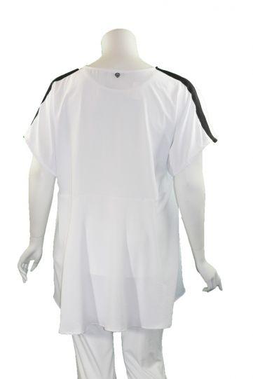 Mat Fashion White/Black High/Low Tunic 7301.1026