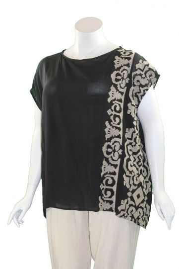 Mat Fashion Black/Tan Light Weight Top 7301.1070