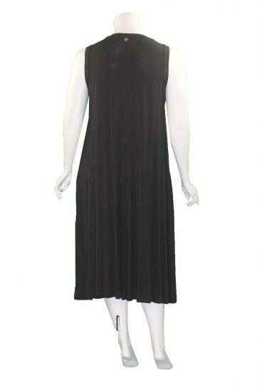 Mat Fashion Black Tie Dye Sleeveless Dress 7301.7143