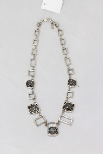 Patricia Locke Silver/Black Fire & Ice Necklace NK0638S