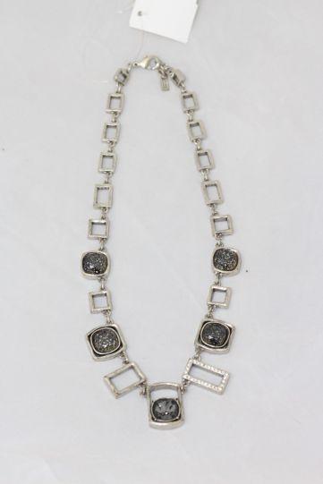 Patricia Locke Silver/Black Fire & Ice Necklace NK0638S
