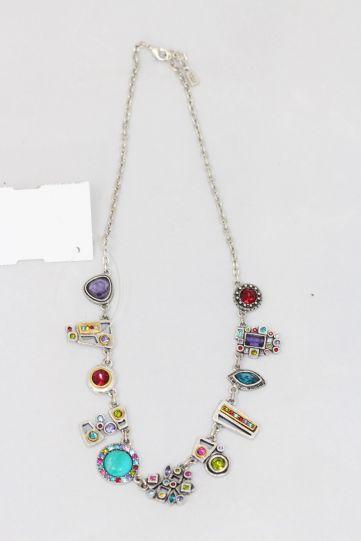 Patricia Locke Fling Multi Stone Necklace NK0689S