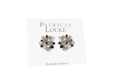 Patricia Locke Black/White Confetti Earring EC0333S