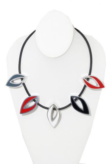 Kristin Desantis Contemporary Open Leaves 5Pc Necklace Reversible