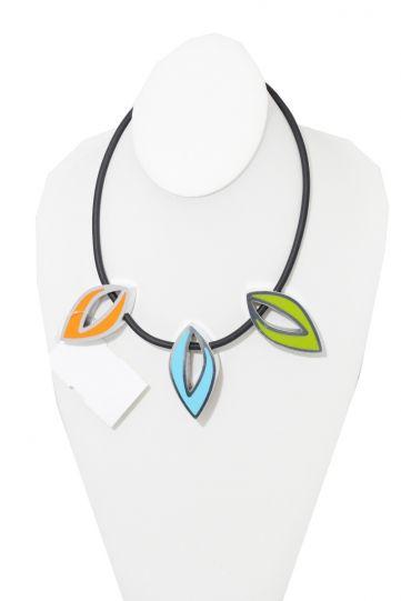 Kristin Desantis Contemporary Open Leaves 3Pc Necklace Reversible