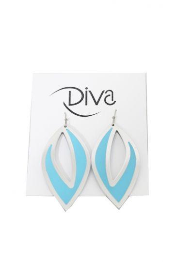 Kristin Desantis Contemporary Open Leaves Earring Blue