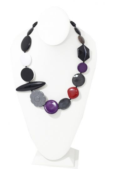 Michaela Malin Multi Color Floral Vali Necklace