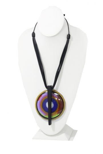 R Sobral Multi Color Circle Pendant Necklace 3612