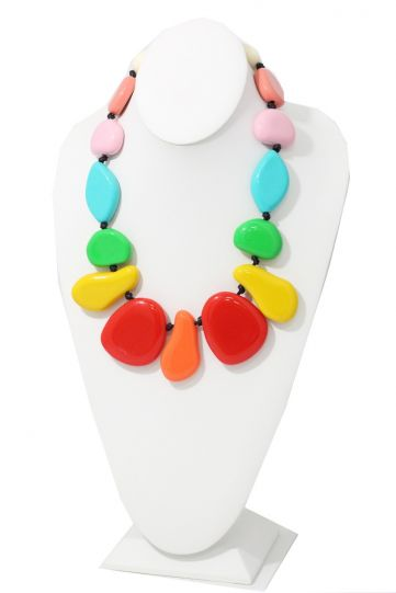 All That Glitterz Multi Color Beaded Necklace 2052020