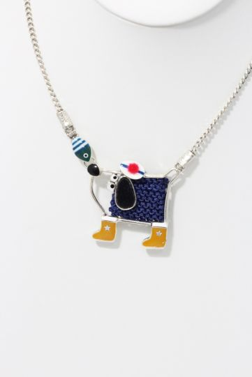 Taratata Blue Dog Fishing Necklace H19-14133-10M