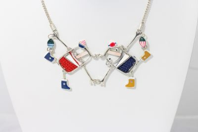 Taratata Red & Blue Couple Holding Hands Necklace H19-14134-10M