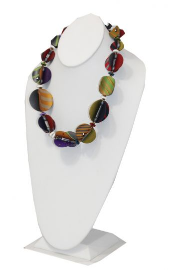 Arden Bardol Multi Color Striped Clay Necklace Wings