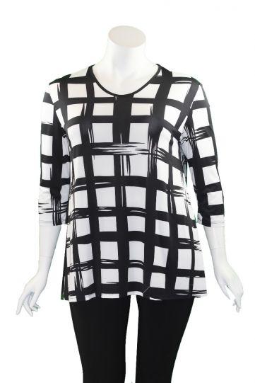 Sole Dione Studio Black/White Large Check Tunic 2480-5