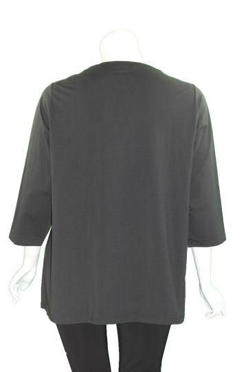 Redwood Court Plus Size Black Multi Swirl Tunic T630C-20