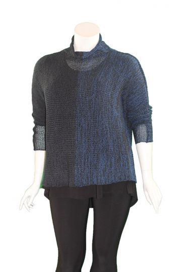 Alembika Navy/Black Knit Sweater AS16N