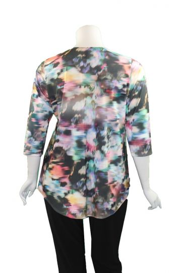 Staples Plus Size Multi Printed Tee 4869