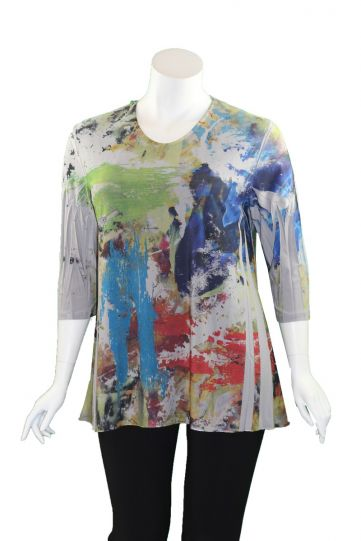 Sole Dione Studio Plus Size Multi Printed Tee 852