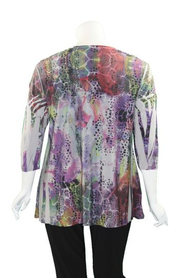 Sole Dione Studio Plus Size Purples Printed Tee 868