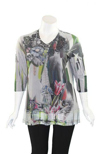 Sole Dione Studio Grey Floral Print Tee 869