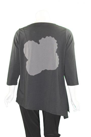 Redwood Court Plus Size Black/Floral Tunic T722C-20