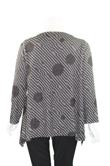 Moonlight Black/Grey V-Neck Tunic 2964-20