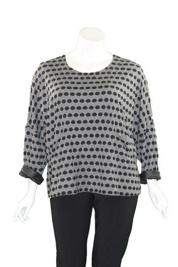 Kozan Plus Size Black Dice Sam Pullover Top TX-4100