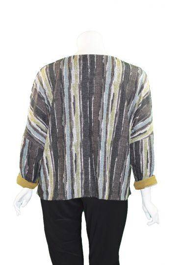 Kozan Plus Size Bark Striped Sam Sweater SP-4100