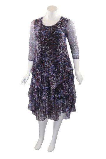 Kozan Plus Size Watercolor Miranda Dress SH-1971