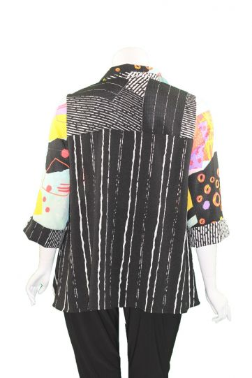 Moonlight Multi Color Button Front Shirt 3233-21