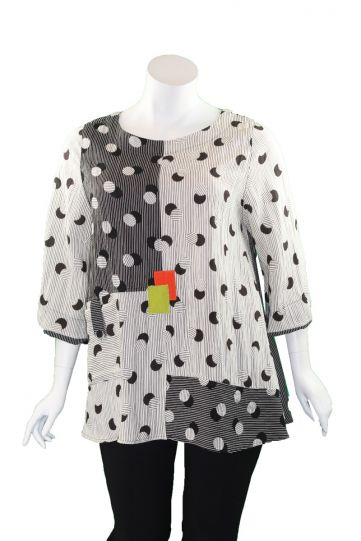 Moonlight Black/White Dot Shadow Top 3216