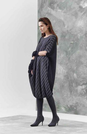 Igor Black/Grey Over Sized Debbie Dress W18-68
