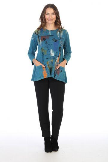 Jess & Jane Plus Size CYP Whitney Cotton Tunic M12-1433X