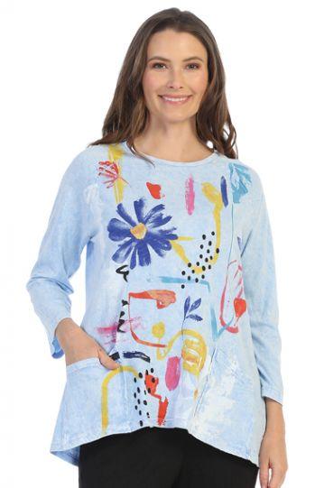 Jess & Jane Plus Size Icbl Lulu Cotton Tunic M12-1487X