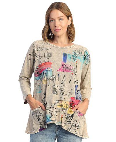 Jess & Jane Plus Size Bge Manhattan Cotton Tunic M12-1510X