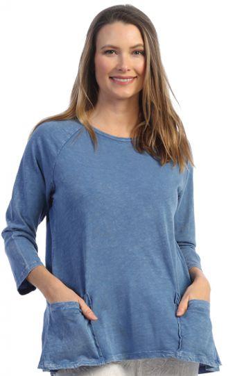 Jess & Jane Plus Size MARN Cotton Pocket Tunic M12X