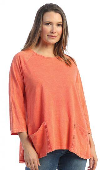Jess & Jane Plus Size WMLN Cotton Pocket Tunic M12X